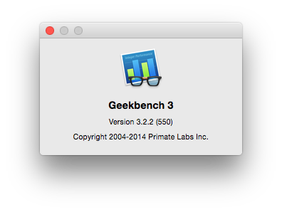 Geekbench 3 で Mac mini (Late 2014)のベンチマークを計測してみた