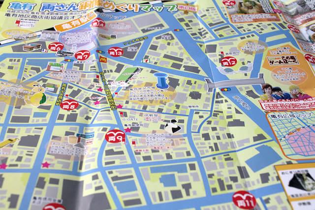 12亀有 両さん銅像めぐりマップ