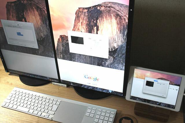 Mac mini (Late 2014) でiPadを使うとトリプルディスプレイにできた