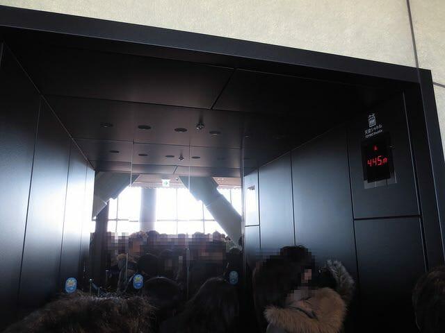 7 450mエレベーター人々