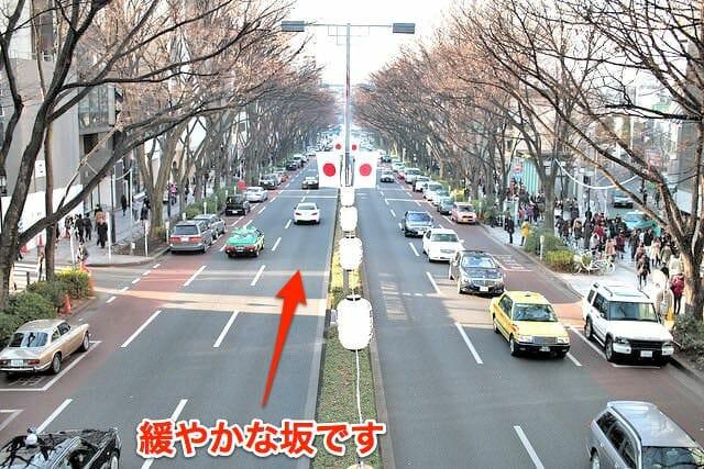 5表参道の傾斜