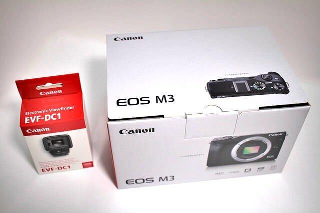 EOS M3とEVF パッケージ