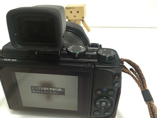 EF M11 22mm レンズを撮影準備位置