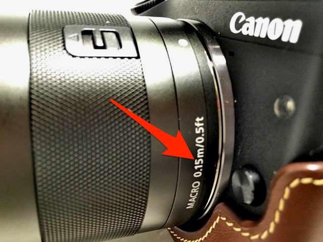 EF M11 22mm 撮影距離15cm