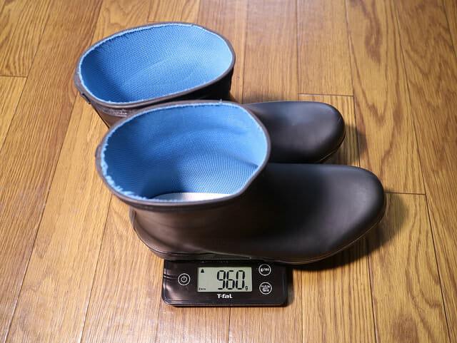 バイク雨対策ショート長靴たんたんブーツ重量