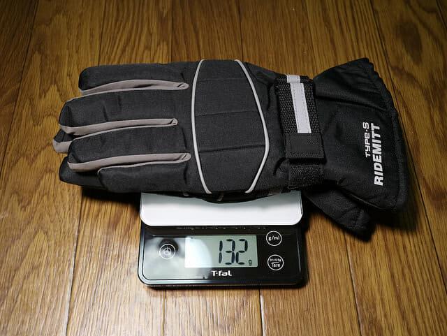 バイク雨対策オールシーズンレイングローブ重量