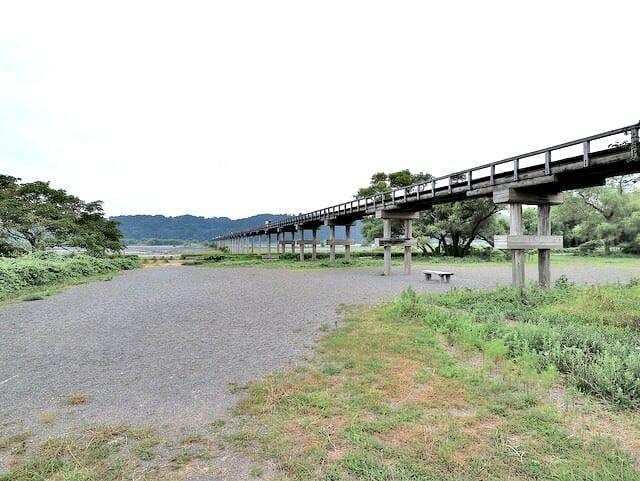 蓬莱橋下から