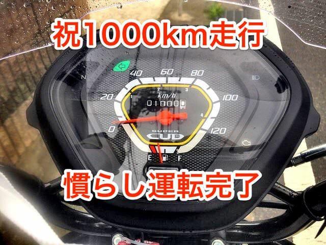 カブオイル交換初回1000km