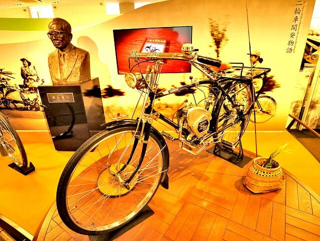 スズキ歴史館自転車エンジン