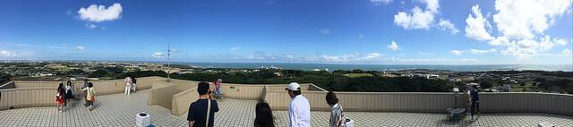 千葉県銚子市地球の丸く見える丘展望館眺望