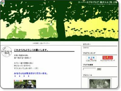 スーパーカブのブログ 雨ガエル1号 2号WEB