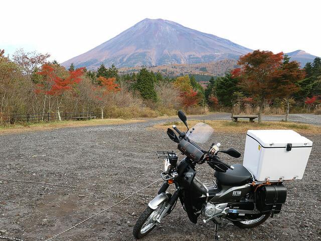 クロスカブで富士山に登ってみた