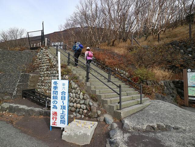 富士山富士の宮口登山者