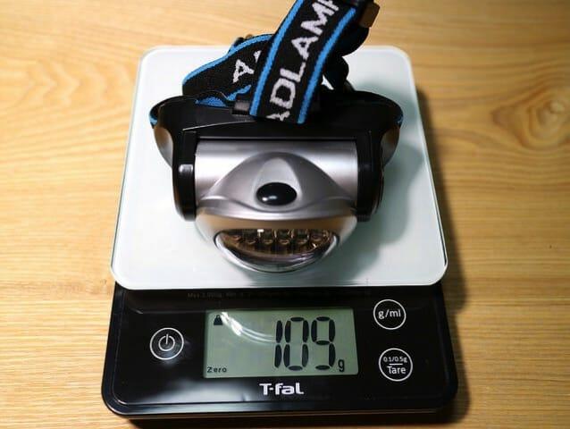 ヘッドランプ重量