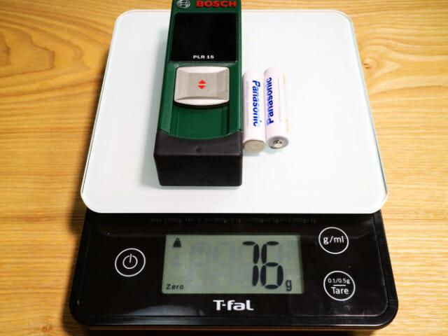 レーザー距離計重量