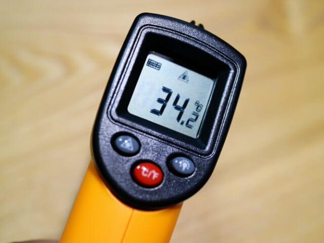 レーザーで温度が測れる時代なのですね