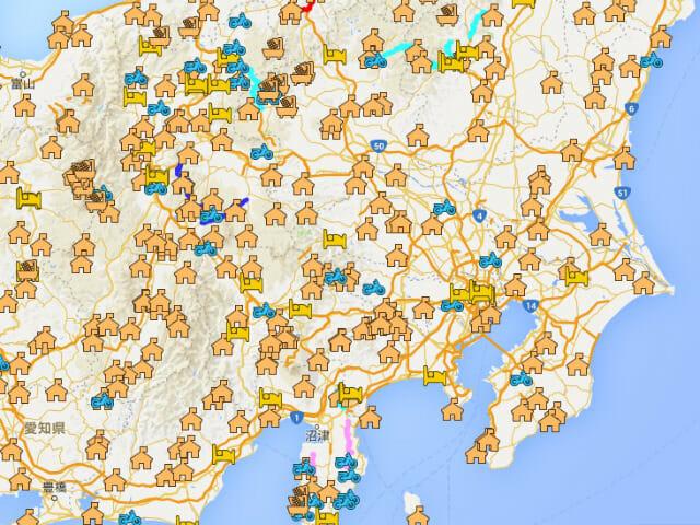 自分のGoogleマップにキャンプ場データ(KML)を取り込んでみた