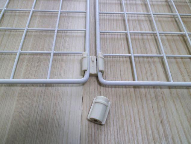 突っ張り棒収納ワイヤーネットジョイント1