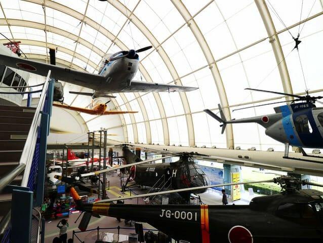所沢航空発祥記念館実機展示全景2