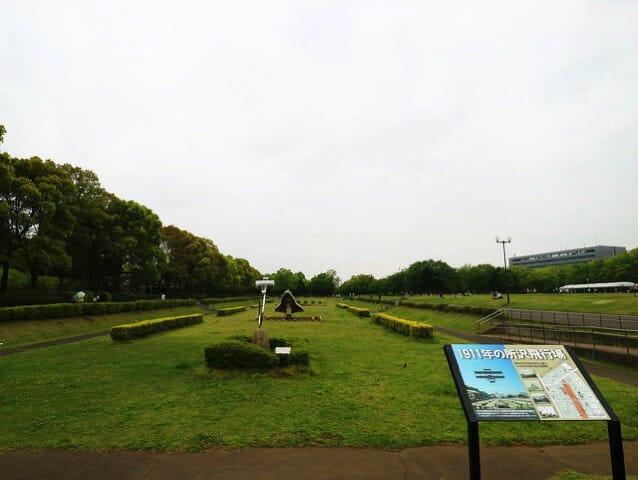 所沢航空記念公園滑走路跡地