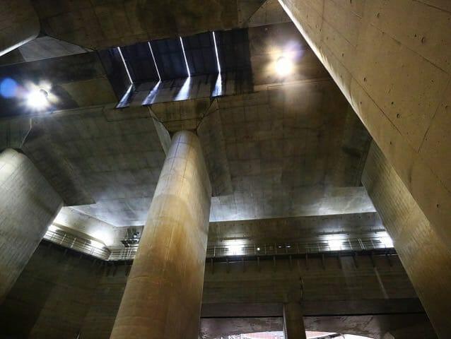 首都圏外郭放水路調圧水槽重機搬入口