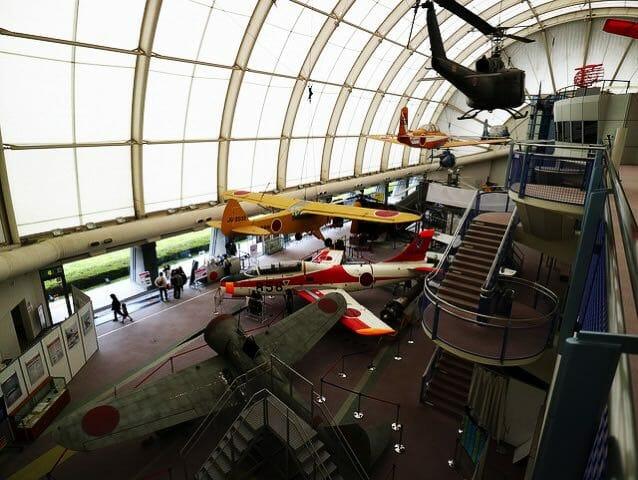 所沢航空発祥記念館実機展示全景3