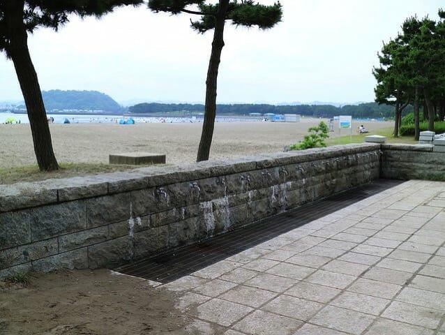 海の公園 足洗い場