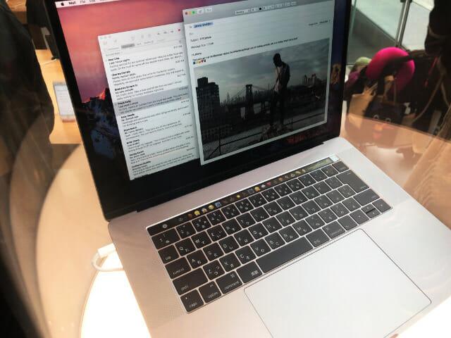 発売前のMacBook Pro(Late2016)Touch Barモデルを見てきた