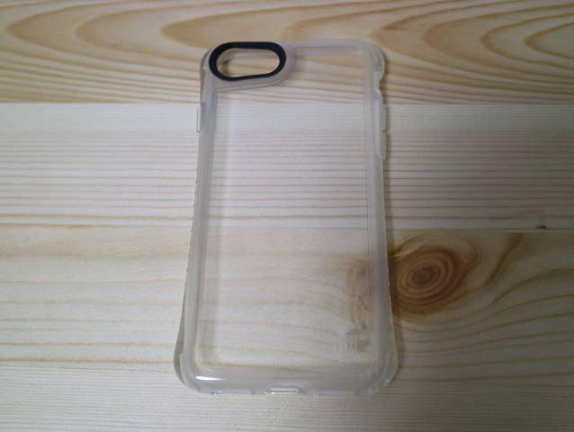 iPhone7ジェットブラックに透明ケースをして干渉縞がでないか確認してみた