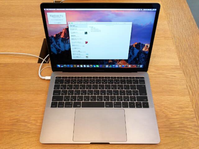 MacBookPro13インチファンクションキー Late2016