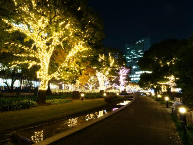 東京ミッドタウン クリスマス2016イルミネーション 3 2ツリーイルミネーション