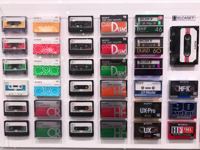 ソニービルIt s a Sony展カセットテープ
