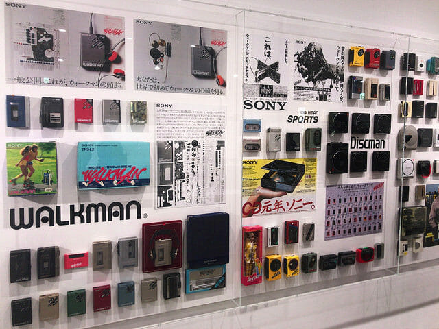 ソニービルIt s a Sony展Walkman歴代