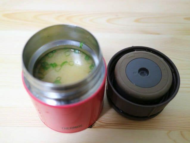サーモススープジャー味噌汁