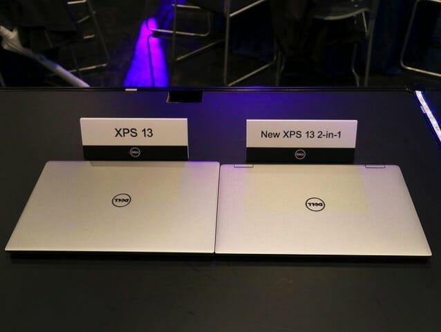 Dell新製品発表会2017 XPS132in1orXPS13天板比較