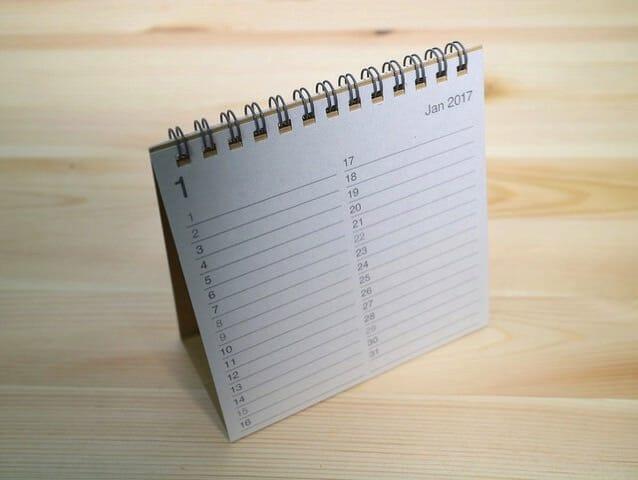 無印良品カレンダー カレンダー小裏面