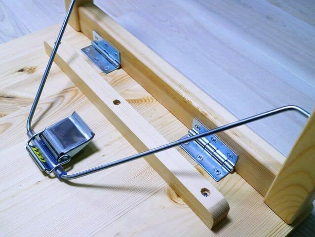パイン材ローテーブル 折りたたみ式 バックル