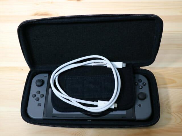 NintendoSwitch専用スマートポーチ ケーブル入れ