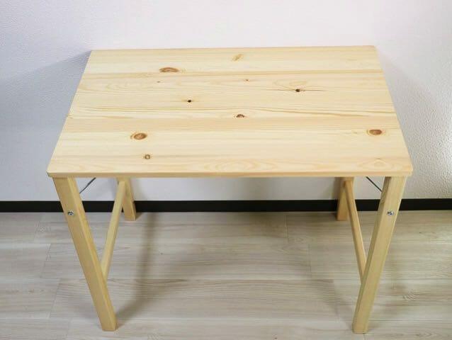 無印良品のパイン材折りたたみ式テーブルを購入したのでローテーブルと比べ