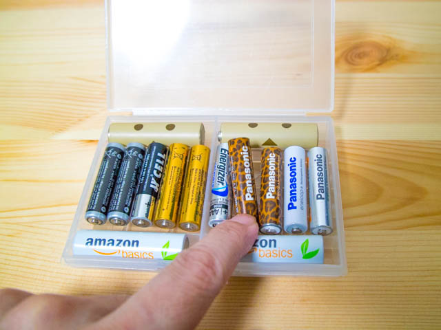 電池ケース 単三4本単四10本取り出し
