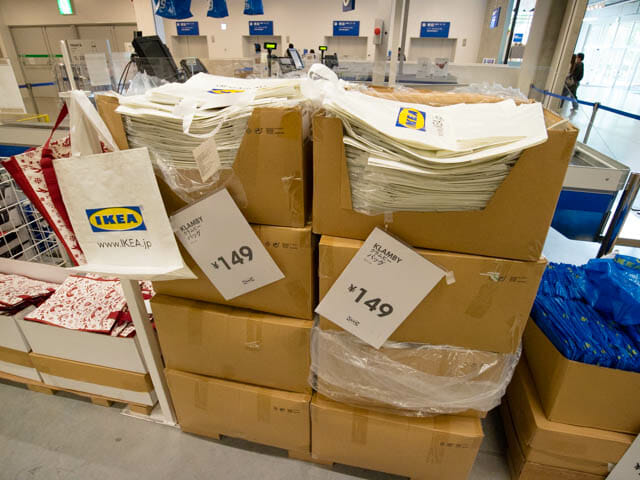 IKEA レジ バッグ