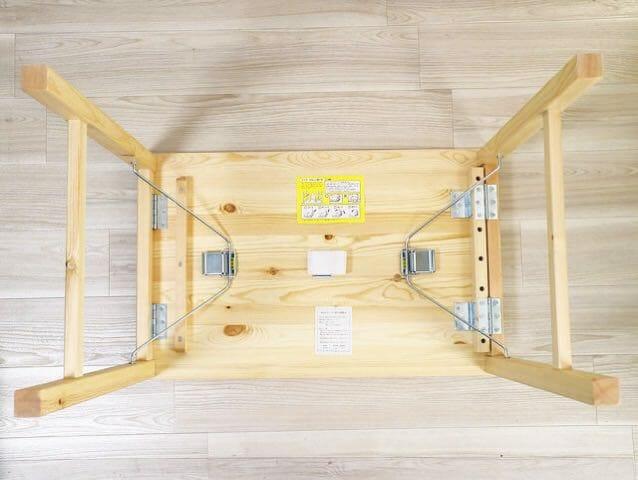 無印良品パイン材テーブル 折りたたみ式 組み立て