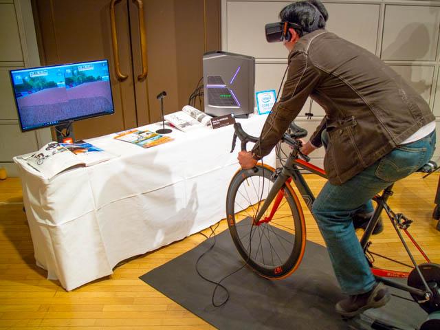 DellVRゲーミング体験会 ロードバイク体験