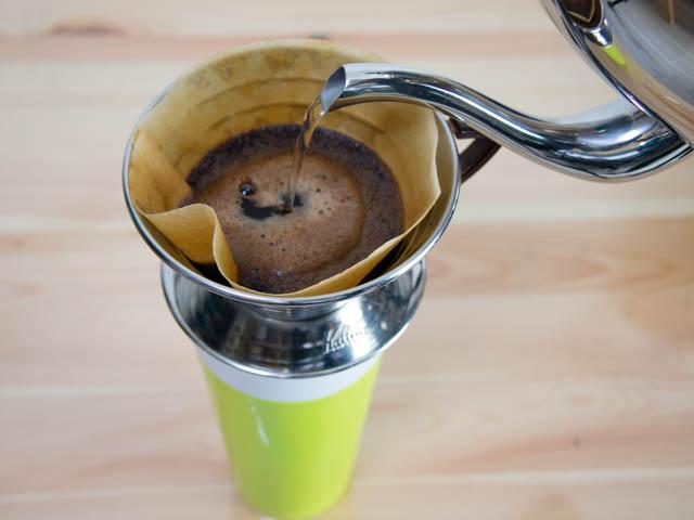 コーヒーを上手く淹れるなら注ぎ口が細いラッセルホブスの電気ケトルがオススメ