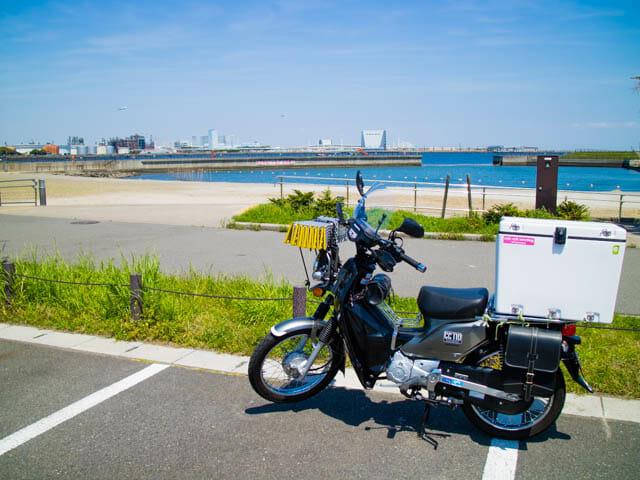神奈川県川崎市にある人工海浜で潮干狩り