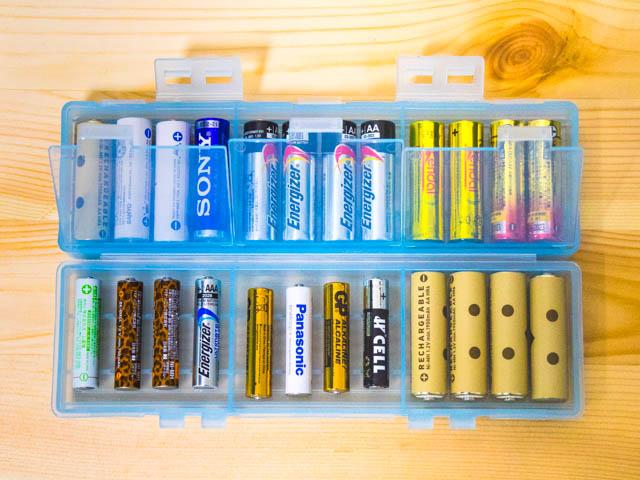 電池ケース 大容量タイプ中蓋開く