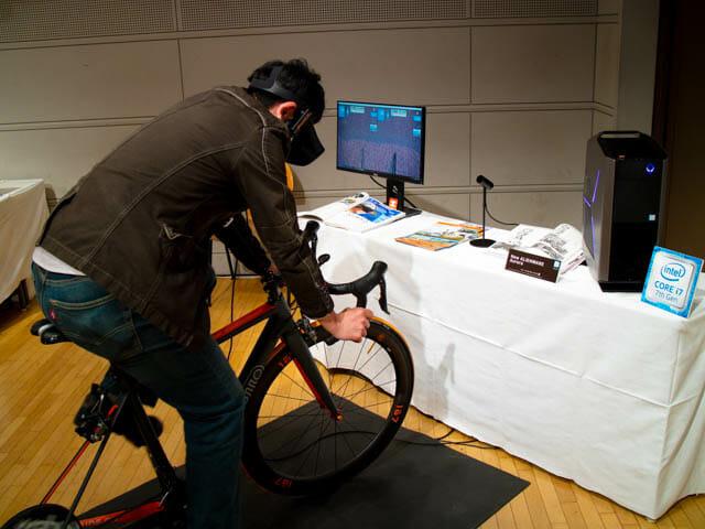 DellVRゲーミング体験会 Oculus Riftロードバイク