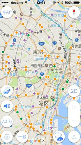 IPhoneアプリ オービスガイド 地図