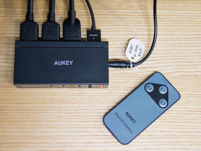 AUKEY HDMI切替機 接続状況