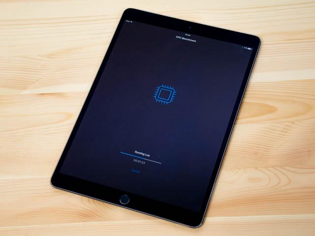 10.5インチiPad Proのベンチマークを測定